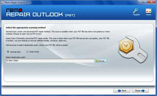 Repair Outlook OST File - Make Selection